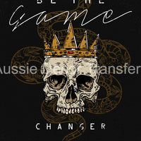 Game Changer Skull A3 Decoupage - Aussie Decor Transfers