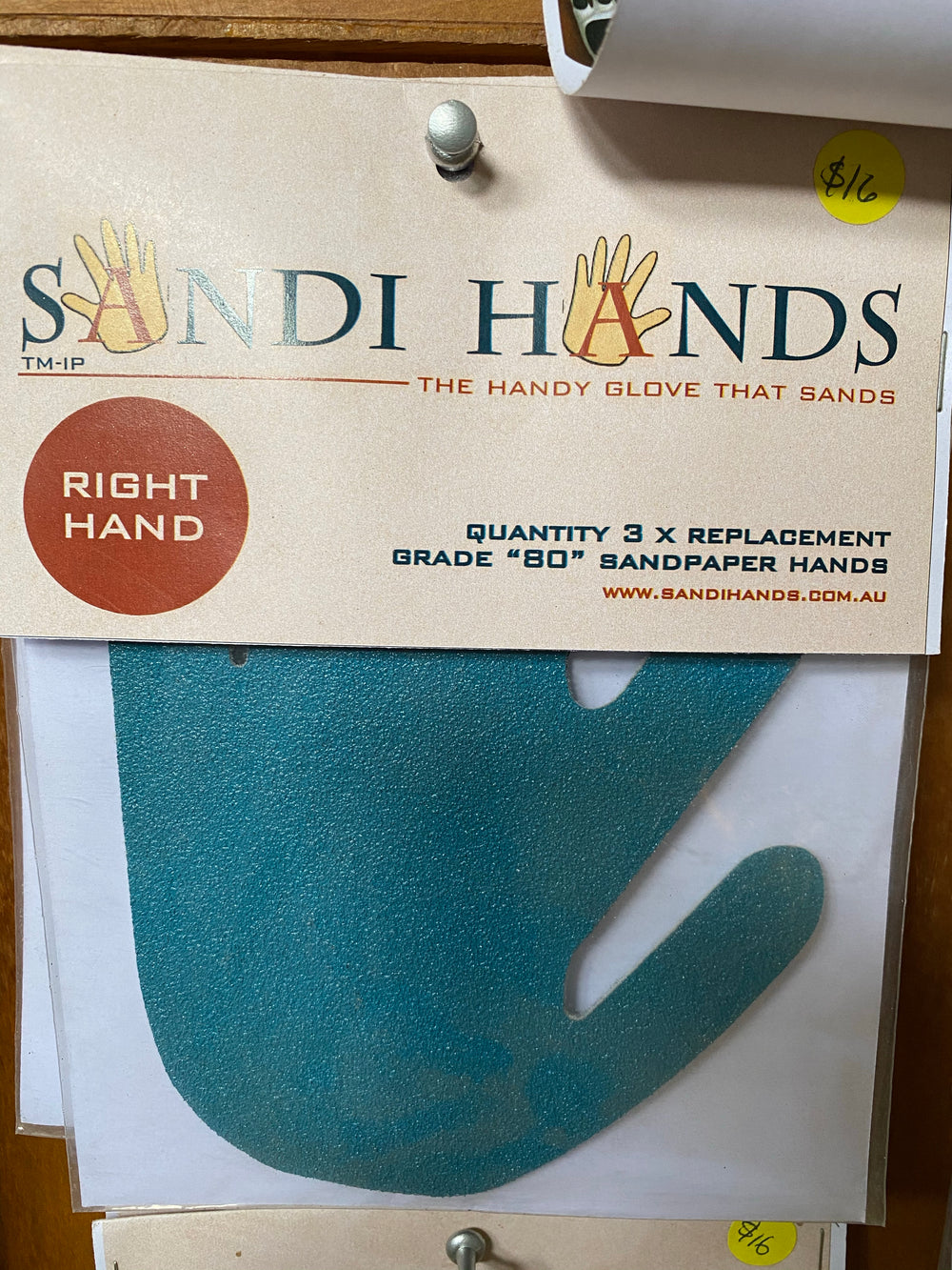 80 grit sandpaper x 3 - Right Hand