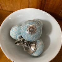 Blue Crackle - drawer door knobs
