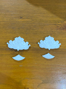 Chinese Fans x 2 - Decorative Furniture Appliques