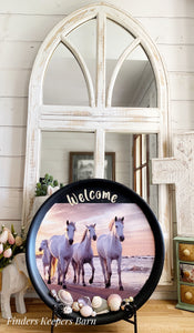 Welcome horse tray