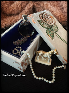 Jewellery Box with rose carving