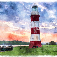 The Lighthouse - Self Adhesive Decoupage Print - Aussie Decor Transfers