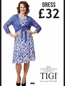 TIGI Dress (Large selection of TIGI ladies wear now in store)