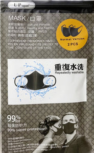 New. Fashion Black,Face Mask (pack of 2) NOW IN! While Stocks Last