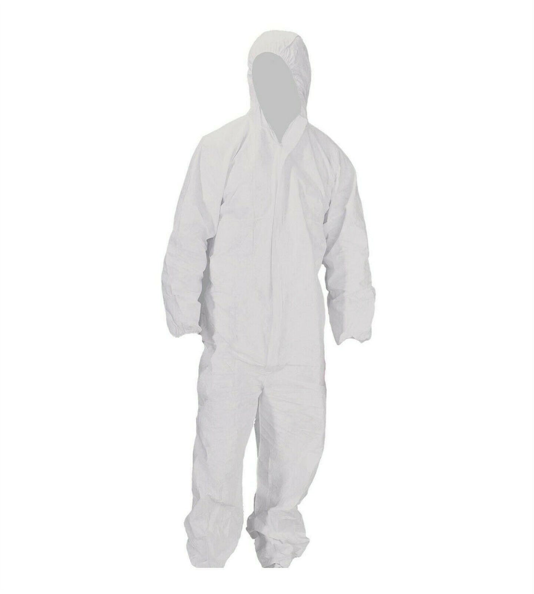 Disposable Boilersuits White (pack of 5) size Small Only (Special Offer)