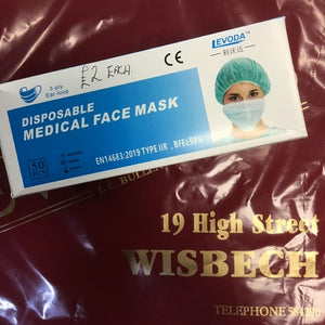 Face Mask Medical 5 for £5 price drop