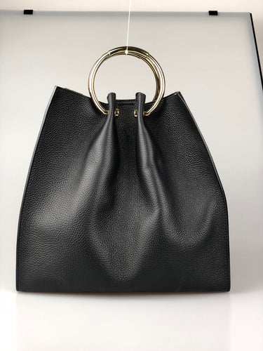 Leather handbag YJ10015
