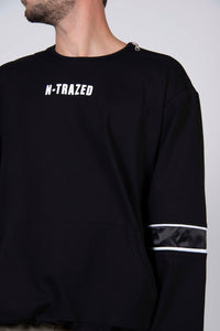 BLACK ZIPPERS SWEATSHIRT