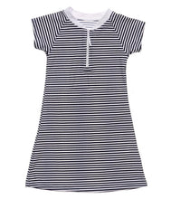 Load image into Gallery viewer, Nautical Stripe Dress Navy/Stripe