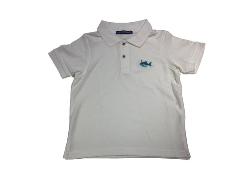 Coastal Kids Polo- White Shark