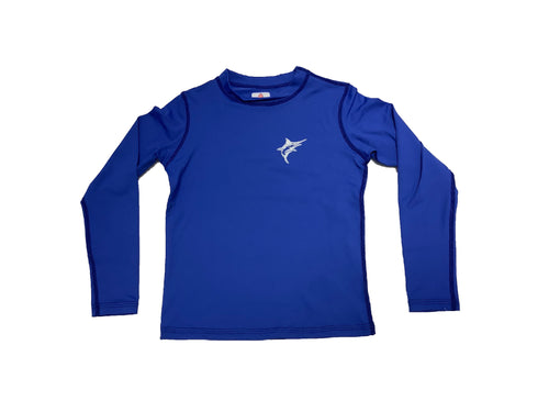 Coastal Kids Long Sleeve Rashguard Royal Blue Marlin