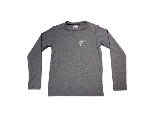 Coastal Kids Dri-Fit Rashguard Grey Marlin