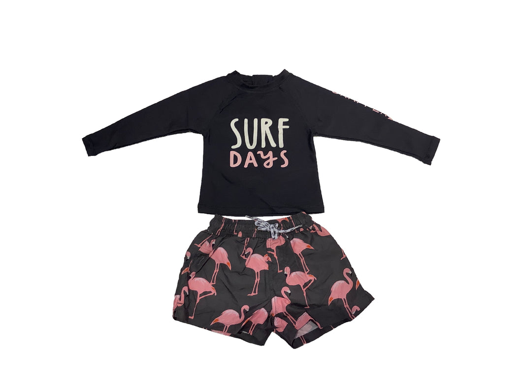 Snapper Rock Flamingo Surf Baby Set
