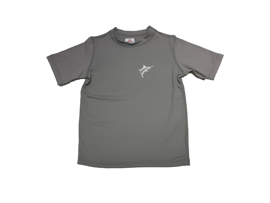 Coastal Kids Short Sleeve Rashguard Grey Marlin