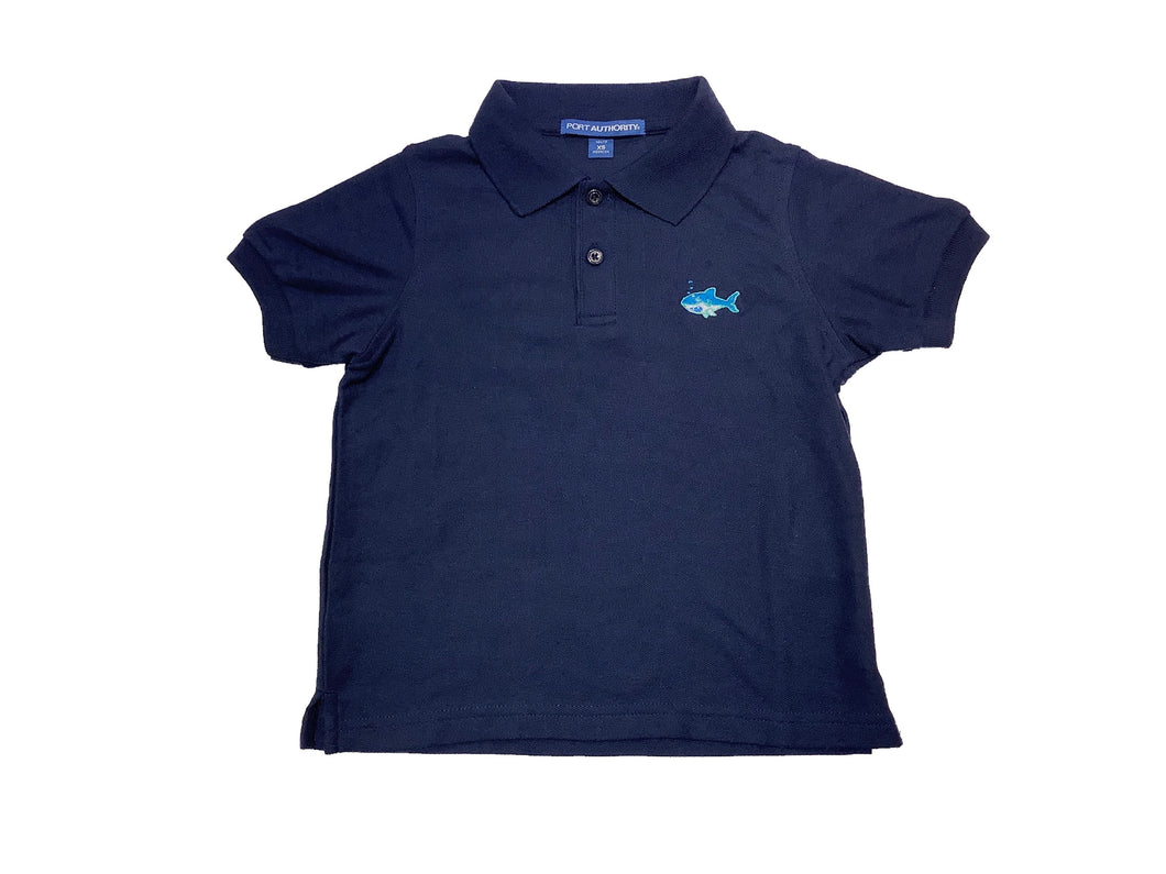 Coastal Kids Polo-Navy Shark
