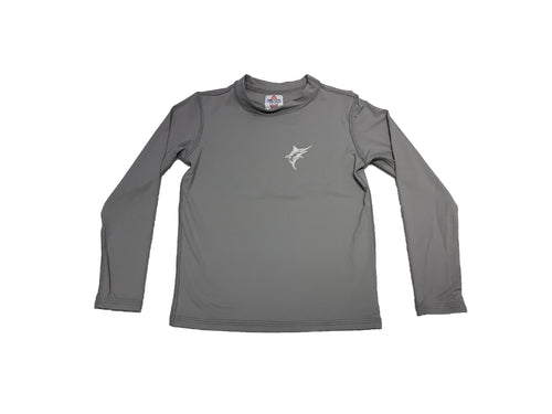 Coastal Kids Long Sleeve Rashguard Grey Marlin