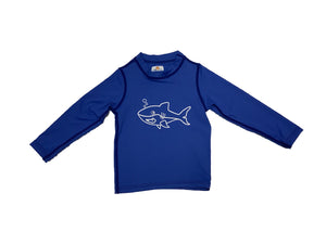 Coastal Kids Rashie Large Shark Blue