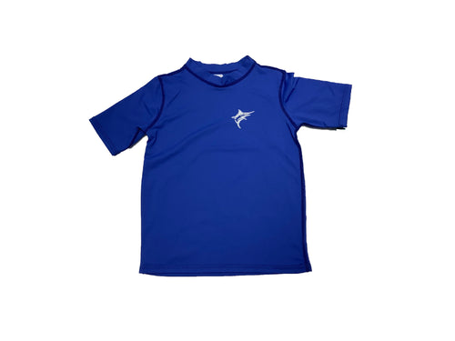 Coastal Kids Short Sleeve Rashguard Royal Blue Marlin