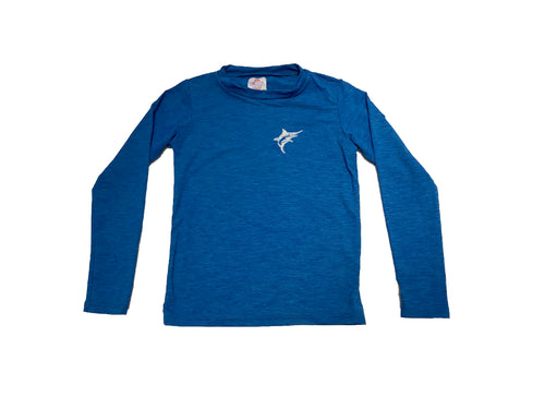 Coastal Kids Dri-Fit Rashguard Heather Blue Marlin