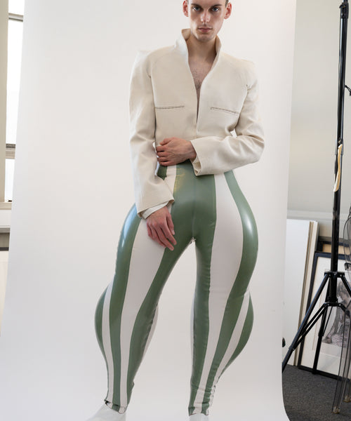 Striped Swirl Inflatable Trouser