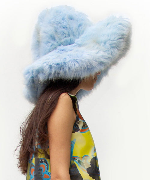 Faux Fur Big Dome Hat