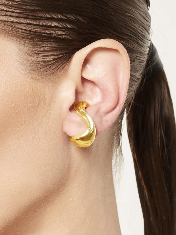 Twist 3 Earcuff Gold Plated