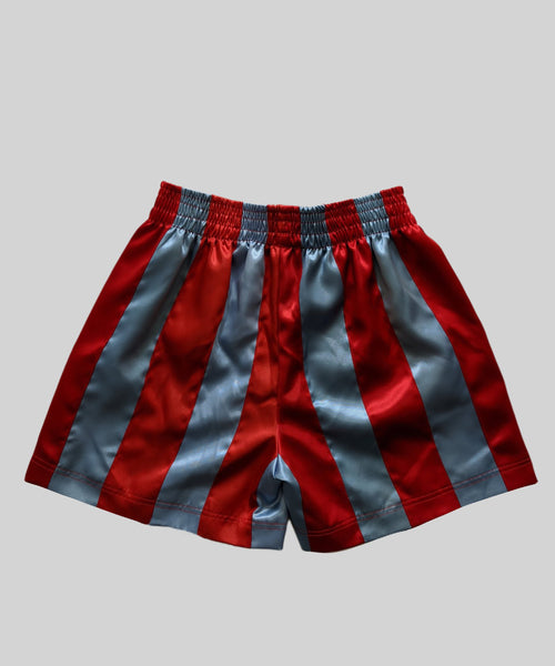 Ribbon Shorts Red & Blue