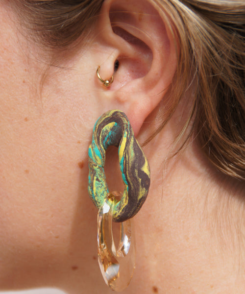 Clay and Swarovski Earring 5