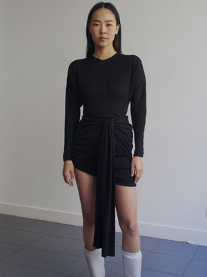 Vejas-Dripping Waist Jersey Dress-APOC STORE