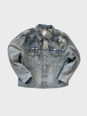 Neith Nyer-Hand Felted Grey Trucker-APOC STORE
