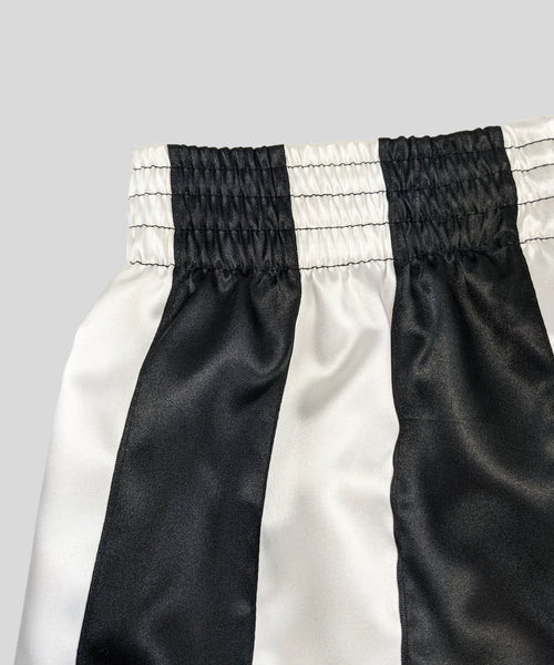 Ribbon Shorts Black & White