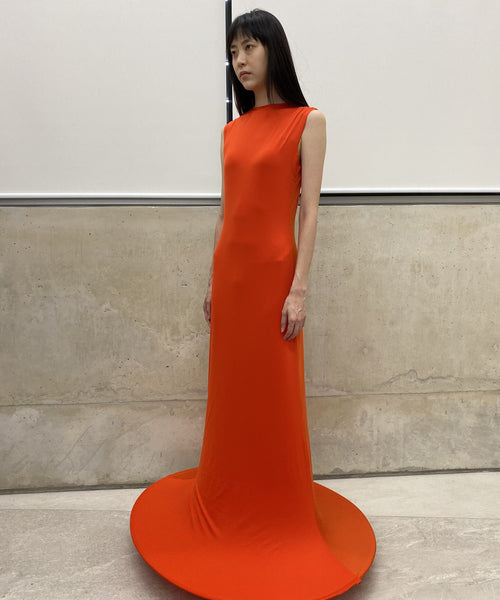 Tangerine Orange Lamp Dress
