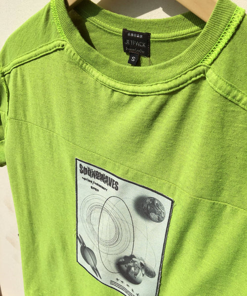 Soda Green Patch Inside-Out-Backwards Deconstructed Tee