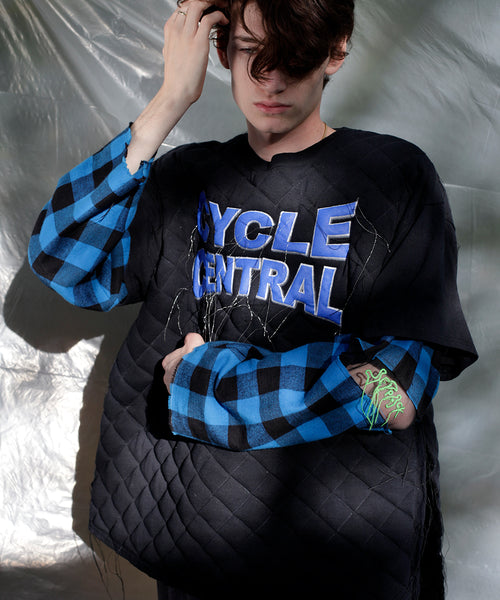 Black Hand Quilted TEEs Reversible Shirt/Sweater