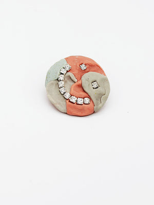 Corrina Goutos-Stuck in my Teeth Brooch-APOC STORE