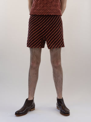 Harri-Diagonal Striped Skittles Shorts-APOC STORE