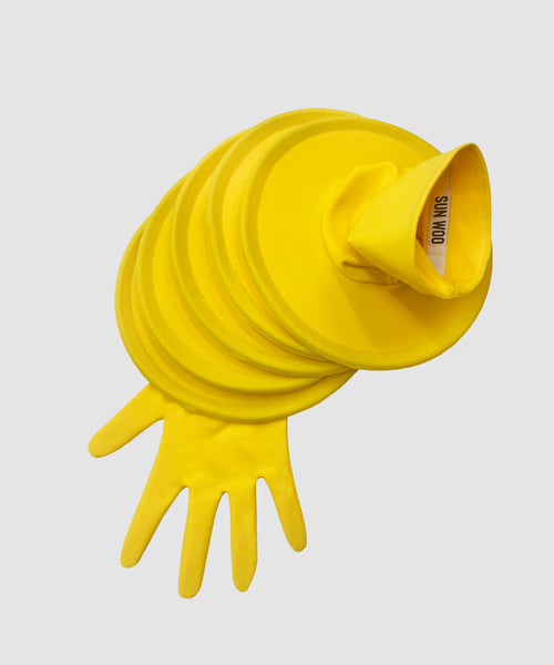 Cyber Yellow Discs Glove