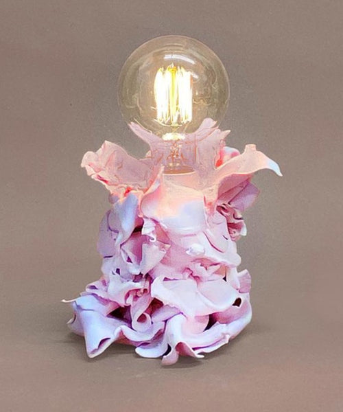 Pink Pleated Lamp
