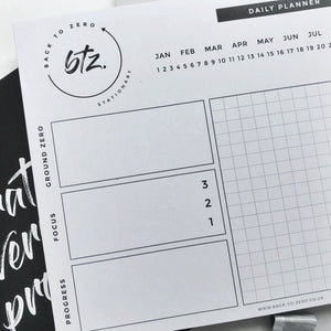 Back To Zero - Daily Planner