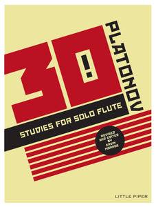PLATONOV: Thirty Studies for Solo Flute