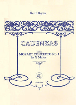 BRYAN: Cadenza Mozart No 1 G Major