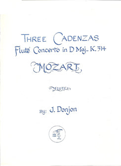 DONJON: Cadenza Mozart No 2 D Major