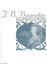 Load image into Gallery viewer, BOISMORTIER: Six Concerti for Five Flutes - parts
