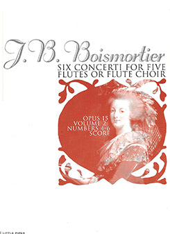 BOISMORTIER: Six Concerti for Five Flutes - score