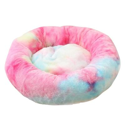 Soothing Pet Bed-Rainbow Red