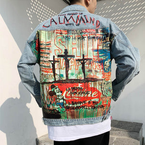Graffiti Print Jacket