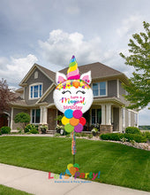 Load image into Gallery viewer, Magical Birthday Unicorn - Yard Balloon Art