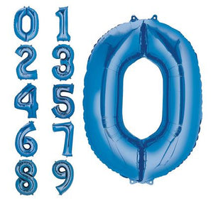 "34"" Blue Number Balloons"