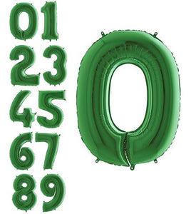 "40"" Green Number Balloons"